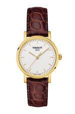 *BRAND NEW* Tissot Women's Gold Steel Brown Leather Watch T109.210.36.031.00