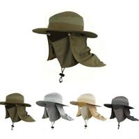 Outdoor Brim Sun Block Quick Drying Fishing Sun Cap Climbing Bucket Hat W