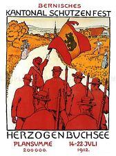 Suiza Berna herzogenbuchsee milicia civil Vintage Anuncio Cartel 2054pylv