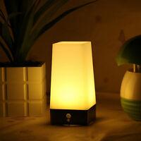 Wireless Motion Sensor Bedroom Night Light Battery Powered LED Table Lamp MW