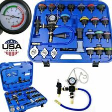 28 Pcs Radiator Pressure Tester Kit Coolant Vacuum Type Cooling System Adapters