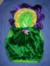 Toddler Green Purple Flower Halloween Costume Size 12-24 Months