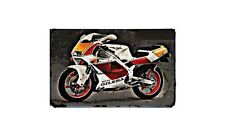 Gilera Sp02 Motorbike Sign Metal Retro Aged Aluminium Bike