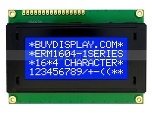 5V Blue 16x4 Character LCD Module Display w/Tutorial,HD44780,White Backlight