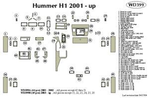 HUMMER H1 2001 2002 DASH TRIM KIT a