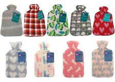 2L Fleece Luxurious Hot Water Bottle Removable Soft Novelty Knitted