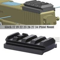 Glock Sight Mount Plate Glock 17 19 22 23 26 27 34 Rail for Red Dot Sight