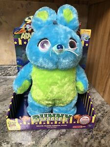 New Toy Story 4 Signature Collection Bunny Deluxe Carnival Talking Plush