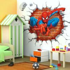 Spiderman Wall Decal 3D Sticker Mural Childs Bedroom Nursery Peel & Stick