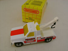 1991 MATCHBOX SUPERFAST #21 GMC WRECKER FRANK'S GETTY 24HR TOWING NEW IN BOX