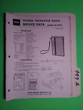Toshiba 8p-823fa service manual original repair book transistor radio 10 pages