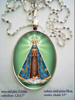Our Lady of Lujan  Religious Medal  Argentina  Unique Statement Necklace Designed by MarleeLovesRoxy