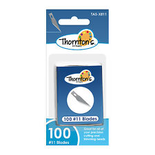Thornton's Art Supply #11 Classic Fine Point Hobby Blades, 100 Blades per Box