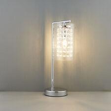 Endon ALDA Lámpara de MESA 40w E14 Vela Cromado Plato & Vidrio Transparente