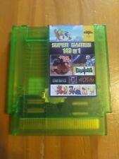 Super Games 143 in 1 Nintendo NES Cartridge Multicart, Transparent/Green