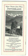 1920s Travel Tourism Brochure VISIT SWITZERLAND Swiss Federal Railroads Pictures