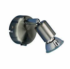 WOFI Spot Nini 3 Watt GU10 Wandlampe Wandleuchte Schalter Strahler Leselampe LED