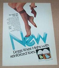 1977 print ad - L'eggs Pantyhose knee highs girl legs hosiery Advertising page