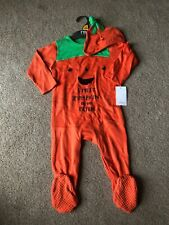 Mothercare Pumpkin 🎃 Sleepsuit Halloween 9-12 Months With Hat