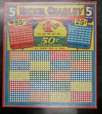 {Bj stamps} Nickel Charley 5 Cent Punchboard Unused Tavern Memorabilia Games