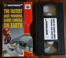 """Nintendo 64 VHS PROMOZIONALE """"il più veloce più potenti console giochi sulla terra"""""""