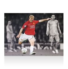 Paul Scholes Signed Manchester United Photo - Goal vs Barcelona, Isolated