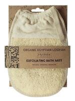 Hydrea London Organic Egyptian Loofah Bath Glove Oval Pad Exfoliating Scrubber