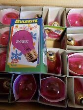 Bulbrite 105828 25 Watt Incandescent A19 Light Bulb Transparent Pink