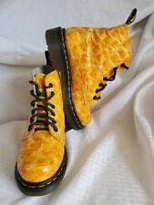 Dr. Martens Junior UNIQUE Tangerine w/ Animal Print Embossed Leather Boots- Sz 2
