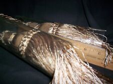 "Double Tassel Curtain Tie Back Drape holder 27"" Turkey 3 ply Ligh Brown, Ivory"