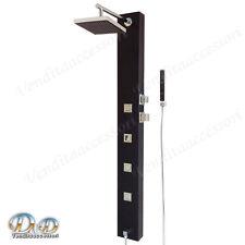 Colonna doccia idromassagggio 150x16 doccetta soffione pannello ehlana nero