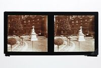 París Jardin Estatua Francia Foto Estéreo T2L1n4 Placa De Cristal Vintage c1930