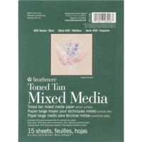 "Strathmore Toned Mixed Media Paper - Toned Tan 6""x8""-15 Sheets"