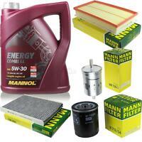 Motor-Öl 5L MANNOL 5W-30 Combi LL+MANN-FILTER Filterpaket Skoda Octavia 1U2 1.4
