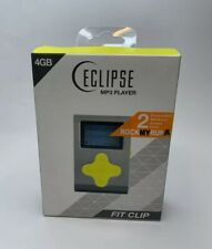 Eclipse Fit Clip MP3 Player 4GB 1000 Plus Songs Yellow Gray JLab Shuffle iTunes