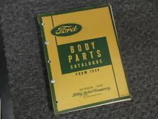 1947-1949 Ford Closed Cab Panel Pickup Truck Platform Part Catalog Manual 1948