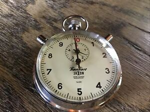 Hanhart Jaxon Vintage Stopwatch Lever 7 Jewels 1/10 sec Mechanical Wind Up Nice