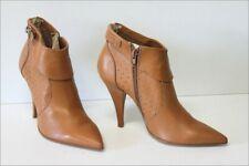 SAN MARINA  Bottines Boots Cuir Marron Cannelle Talons Coniques T 38 TBE