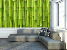 Green Bamboo  Wall Mural Photo Wallpaper GIANT WALL DECOR Paper Poster