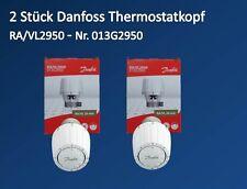 2 Stück Danfoss Thermostatkopf RA/VL 2950 Ventilkopf Fühlerelement 013G2950 26mm