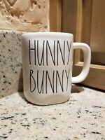 "Rae Dunn Easter ""HUNNY BUNNY""  2 Sided w/ Bunny Mug  Glossy by Magenta , new"
