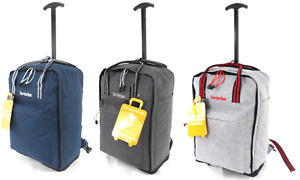 "Cabin Approved 18"" Carry On Wheeled Flight Bag Luggage Trolley Case Bag Backpack"