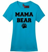 Mama Bear Cute Ladies Soft T Shirt Mothers Day Gift Tee Mom Mommy Tee Z4