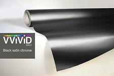VVIVID8 black chrome satin matte car wrap vinyl 3ft x5ft conform stretch 3MIL