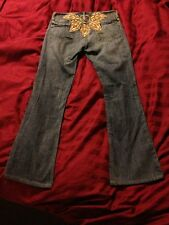 "7 Seven for All Mankind Jeans Size 26.  29.5"" Inseam Solar Embroidery EUC"