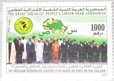 LIBYEN LIBYA 2008 2923 10th Meeting Statesmen Coast & Dessert States Map MNH