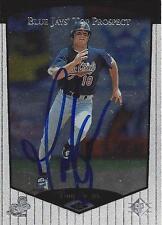 Tom Evans Toronto Blue Jays 1998 Upper Deck SP Signed Card