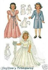 1089 Vintage Doll Clothes Pattern Little Lady 15""