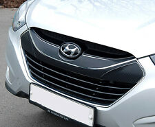 3D Carbon Fabric Decal Grill Mask Sticker 5p For 10 11 12 Hyundai Tucson ix35