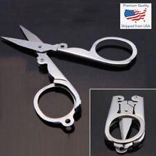Mini Handy Pair of Folding Scissors Stainless Steel Travel Pocket Multi User